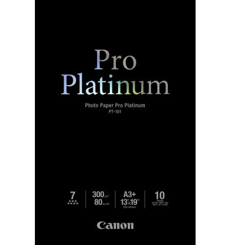 Papel Foto CANON Pro Platinum PT-101 A3+ 10 Folhas