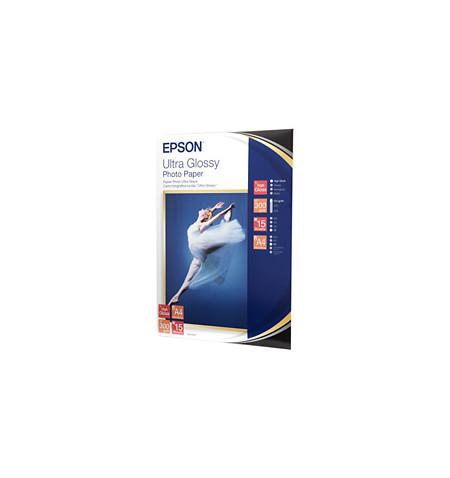 Papel Foto EPSON Ultra Glossy A4 - 15 Folhas