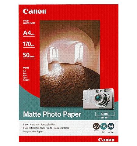 Papel Foto CANON Mate A4, Cx. 50 Folhas