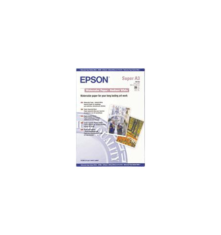 Papel EPSON Aguarela - Branco Resplandescente A3+ (20 Folhas)