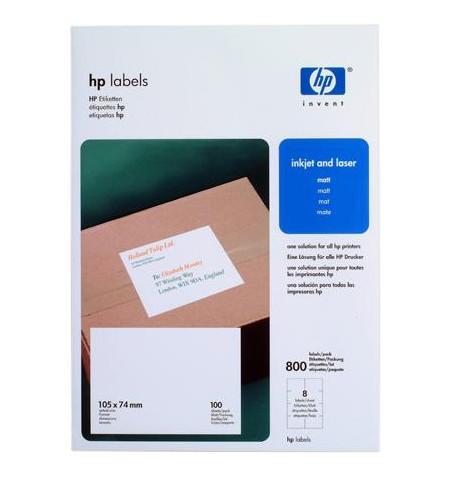Etiquetas HP 105 x 74 mm (8 labels per sheet/100 sheets)