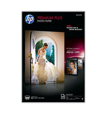 HP Papel Foto Premium Plus Glossy 20 sht A3