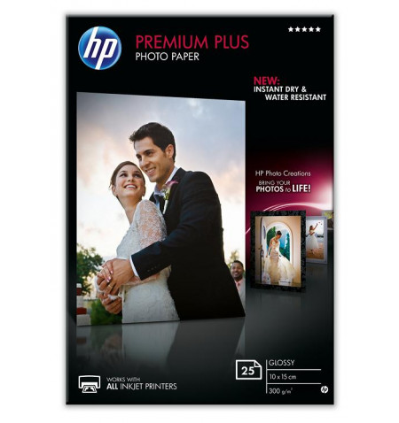 HP Papel Foto Premium Plus Glossy 25 sht