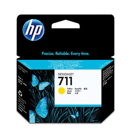 Tinteiro Original HP 711 Amarelo CZ132A