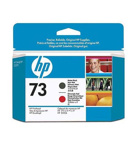 Tinteiro Original HP 73 Preto Matte/ Vermelho Cromado CD949A