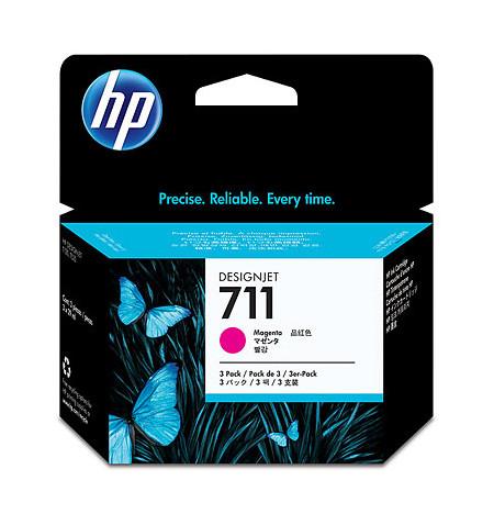 Tinteiro Original HP 711 3x Pack Magenta CZ135A