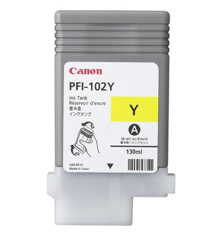 Tinteiro Original Canon PFI-102Y 130ml Amarelo 0898B001