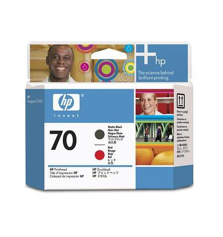 Tinteiro Original HP 70 Preto Matte, Vermelho C9409A