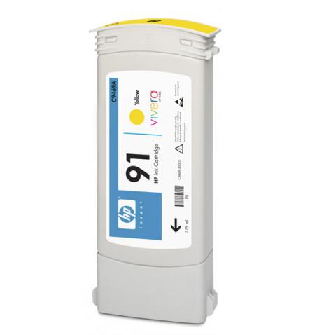 Tinteiro Original HP 91 775 ml Amarelo C9469A