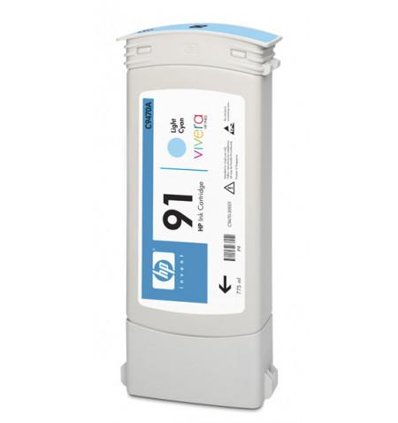 Tinteiro Original HP 91 775 ml Ciano Claro C9470A