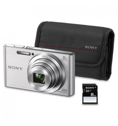 Sony W830 Prata KIT ( BOLSA + SD 8GB)