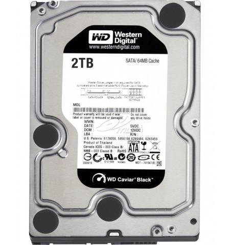 """Disco HDD WD 2TB SATA 6GB 3.5"""" - Preto (WD2003FZEX)"""