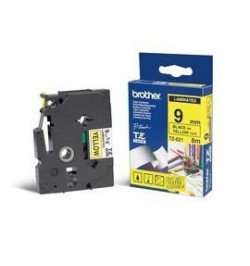 Brother Fita Laminada de 9 mm - Amarelo / Preto