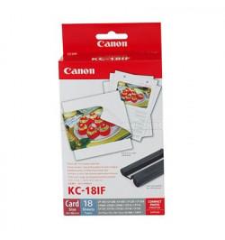 """Canon KC-18IF 18 autocolantes de tamanho de cartão de crédito de 54 x 86 mm (2,1 x 3,4"""")"""