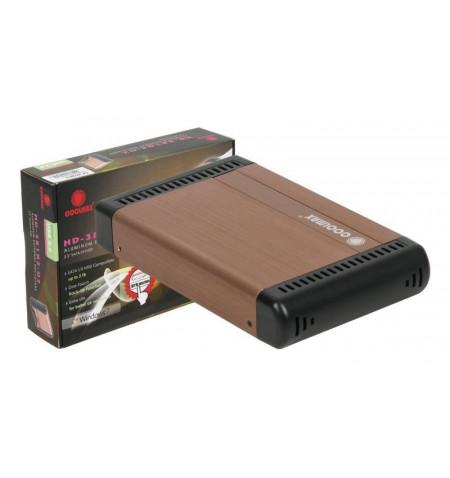 """Caixa Externa Coolmax 3.5"""" SATA USB 2.0 Cobre"""