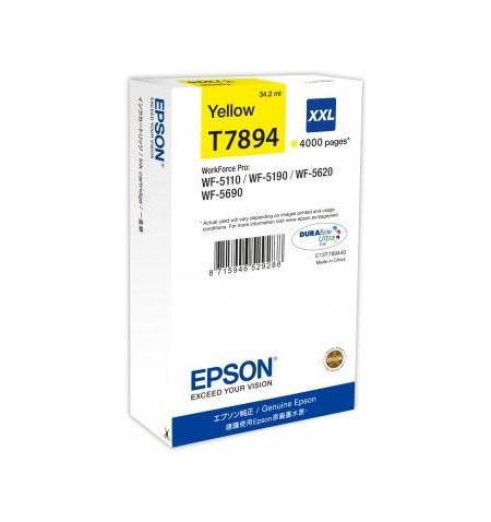 Tinteiro Original Epson WF-5XXX XXL Amarelo (C13T789440)