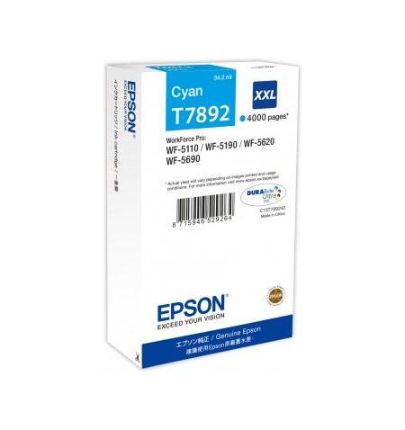 Tinteiro Original Epson WF-5XXX XXL Ciano (C13T789240)