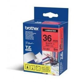 Fita Laminada Brother 36 mm - Vermelho / Preto