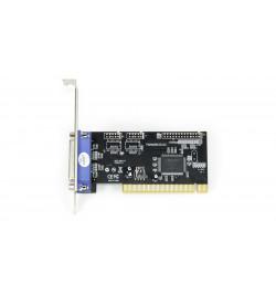 Placa Longshine PCI 1 porta paralela - Baixo Perfil