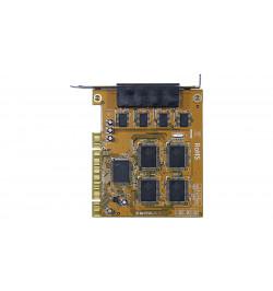Placa PCI série 16c650 4 portas Re–map DOS