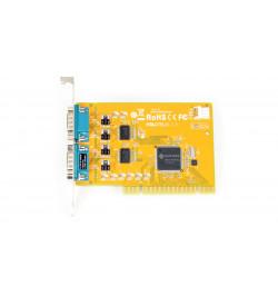 Placa PCI 2 portas série RS–232 Sunix SUN1989 com alimentação 5V/12V