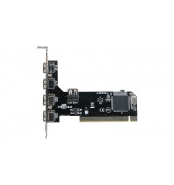 Placa PCI USB 2.0 4+1 portas