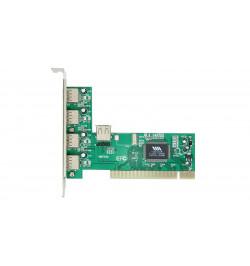 Placa PCI USB 2.0 Atlantis 4 portas externas e 1 interna 480Mbps