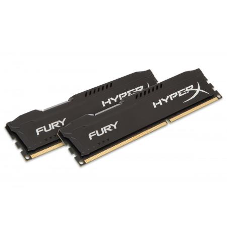 Kingston 16GB HyperX Fury Black 2x 8GB DDR3 1866MHZ PC3-14900 CL10 - HX318C10FBK2/16