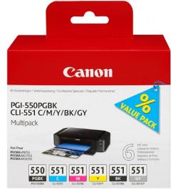 Canon PGI-550/CLI-551 PGBK/C/M/Y/BK/GY Multi Pack