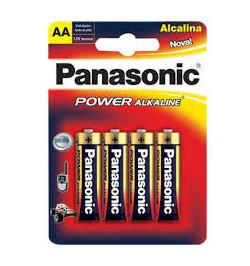 PILHAS ALCALINAS LR6 AA - PANASONIC ALKALINE POWER (4 UNI.)