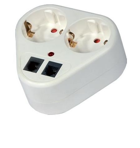 Adaptador Divisor Shucko Conector Telefone (BN 3325)