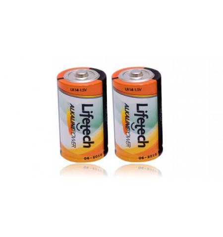 Pack 2Uni. Pilhas Alcaninas Lifetech C / LR14 (LFPIL003)