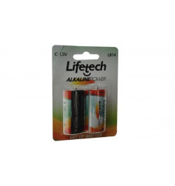 Pack Pilhas Alcaninas Lifetech C / LR14 (LFPIL003)