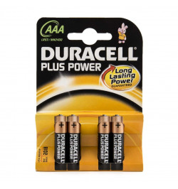 Pack 4Uni. Duracell Plus Power MN2400 AAA Alcalinas