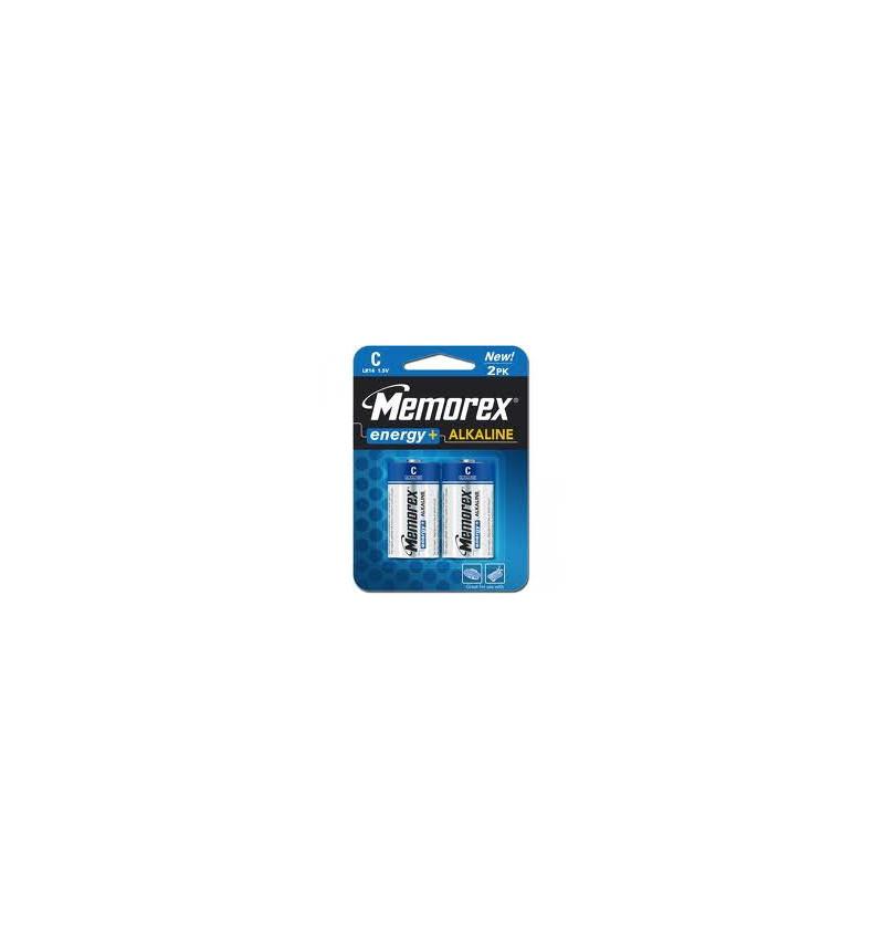 Pack 2Uni Pilhas Alcalinas Memorex LR14 1.5V