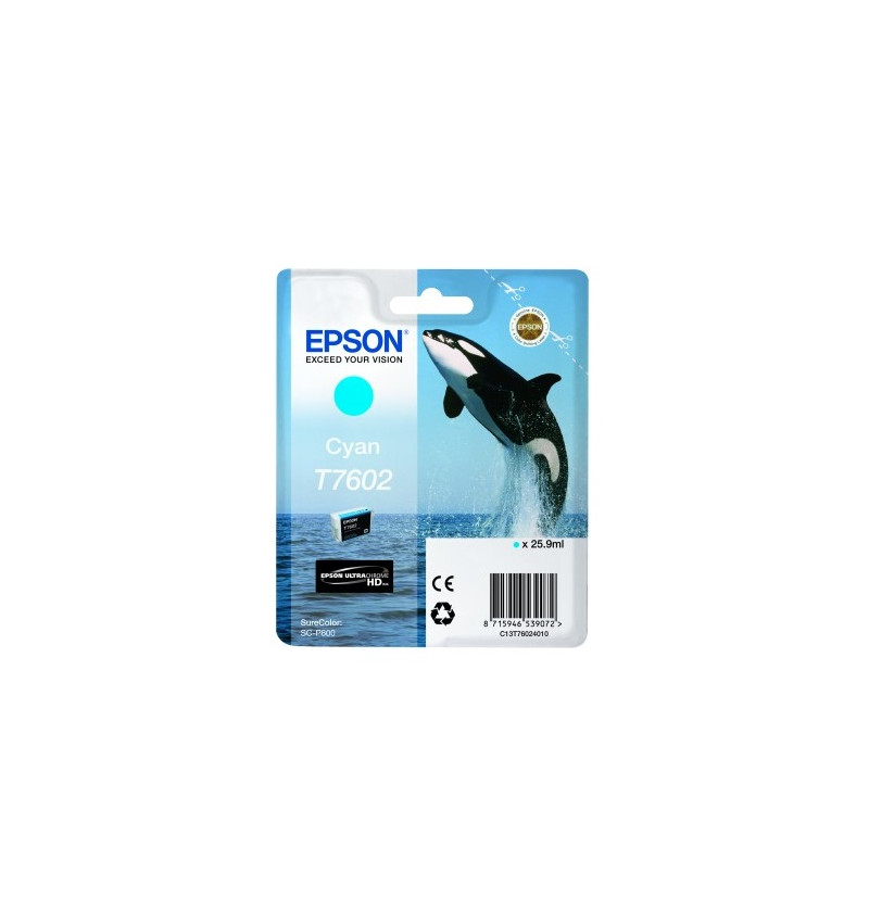 Tinteiro Epson SC-P600 Ciano (C13T76024010)