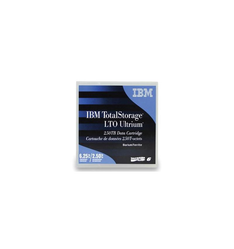 Cart.IBM Ultrium LTO-6 (BaFe) etiquetado 2,5TB/6,25TB