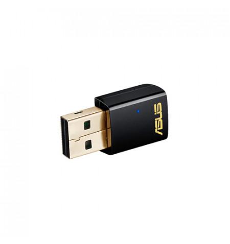 Adaptador Asus USB-AC51 Dual-band Wireless-AC600 (90IG00I0-BM0G00) - (Levante já em loja)