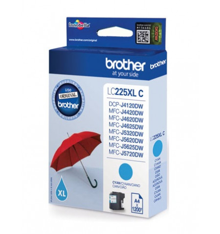 Tinteiro Original Brother Ciano (LC225XLCBP)