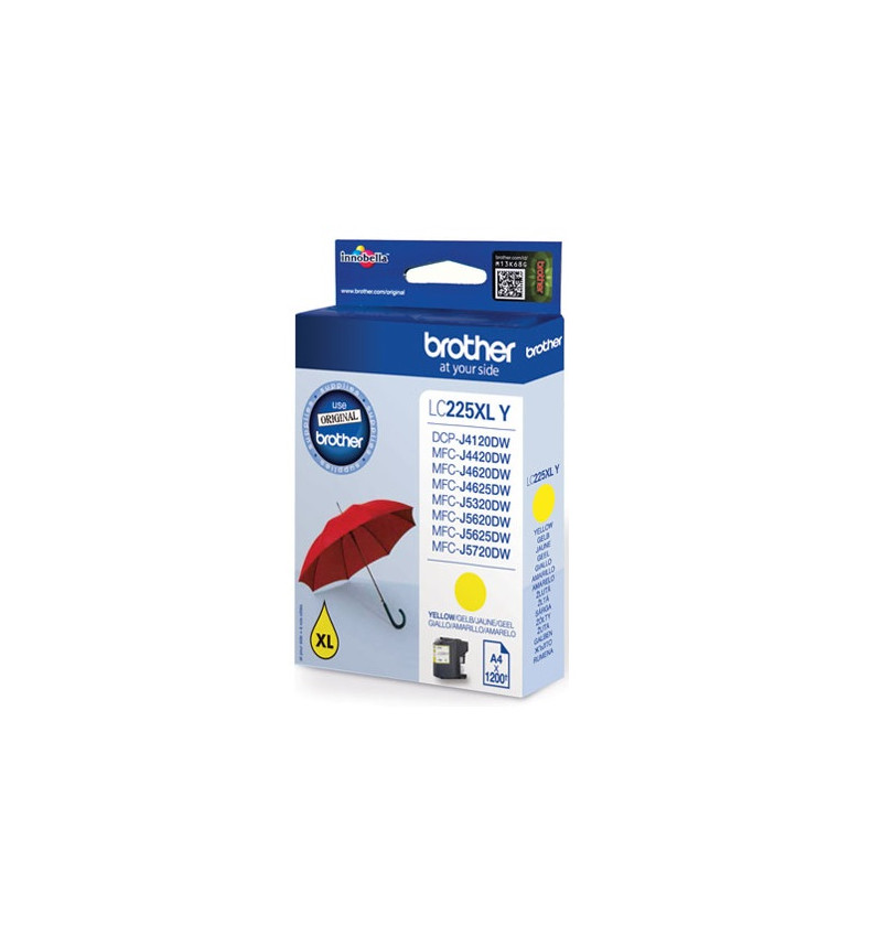 Cartucho tinta amarelo grande capacidade, 1.200 págs. A4, para: DCP4120DW/MFC-J4420DW/MFC-J4620DW/MF