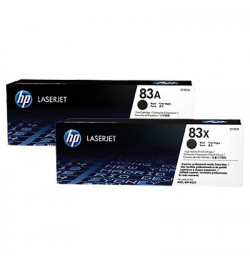 HP 83A 2-pack Black Original LaserJet Toner Cartridge (CF283AD)