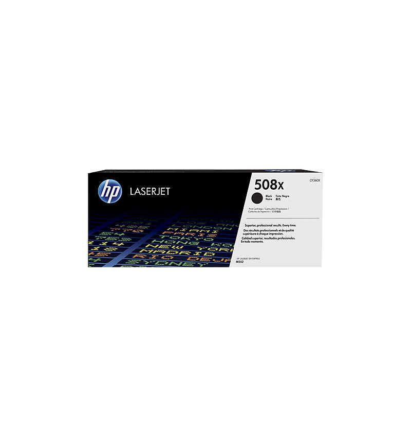 HP 508X High Yield Black Original LaserJet Toner Cartridge (CF360X)
