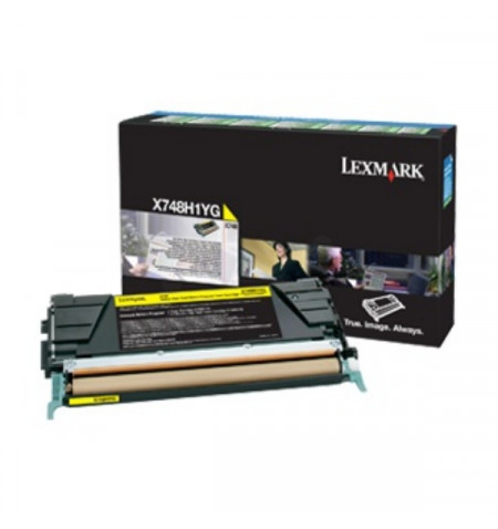 Toner Original Lexmark X748 - Amarelo(X748H3YG)