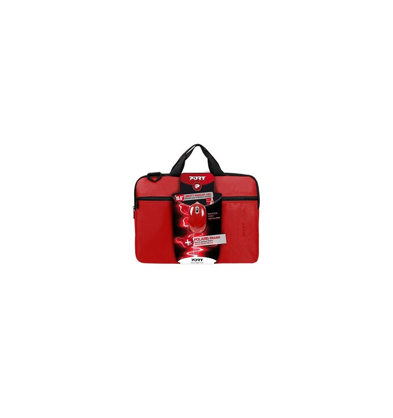 Pack - Mala Liberty 15.6'' + Rato (wired) - Full Red