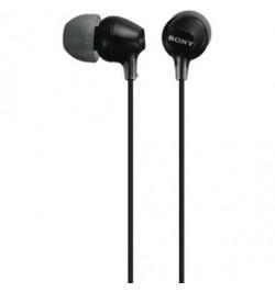 MDR-EX15LPB Preto - Auscultadores de tipo auricular fechado