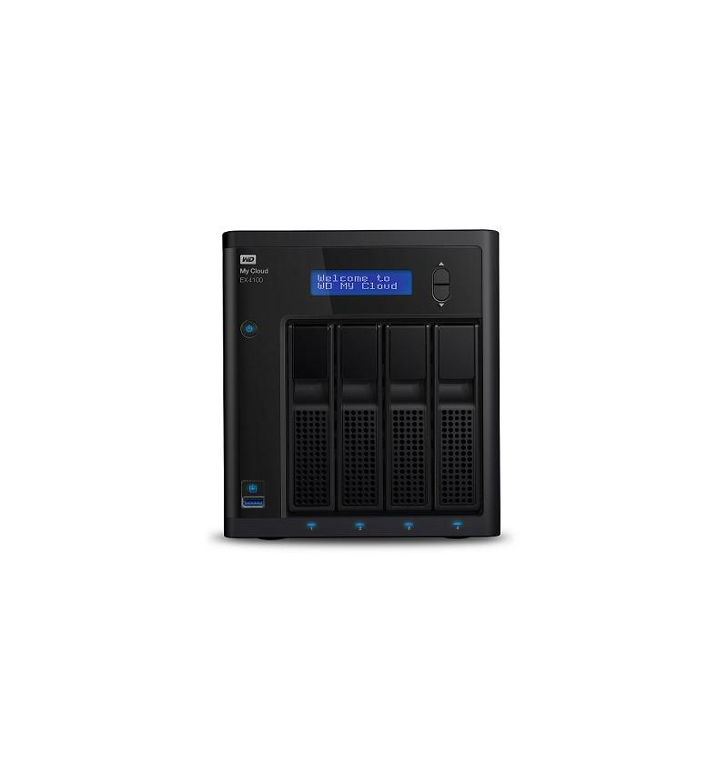 WD My Cloud EX4100 WDBWZE0240KBK - NAS server - Marvell ARMADA 388 (1.6Ghz), 2GB RAM, 24TB (4 x 6TB)