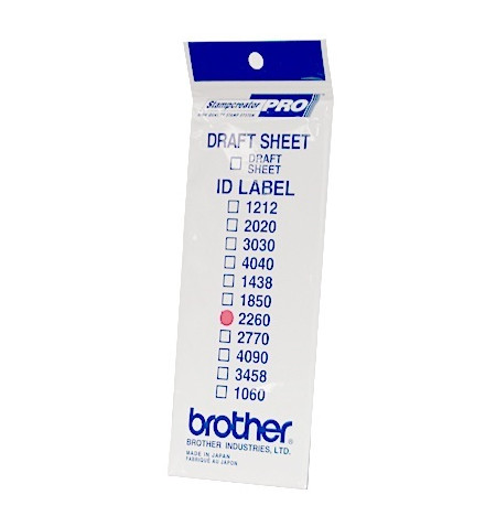 Etiquetas de identificaçăo ID2260 (22X60) 1 Bolsa de 12 folhas