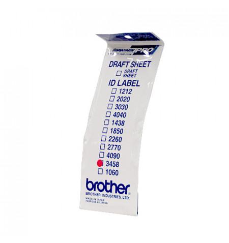 Etiquetas de identificaçăo ID3458 (34X58) 1 Bolsa de 12 folhas
