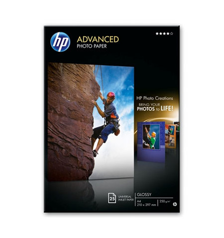 HP Papel Foto Advanced Glossy 250 g/m²-A4 25 sht