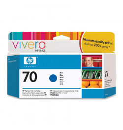 HP 70 130 ml Blue Ink Cartridge with Vivera Ink